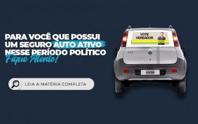 Período Eleitoral: Em casos de sinistro, carros plotados podem ficar sem indenização